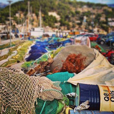 A walk through the fishermen harbor. ⚓ Portdesóller Mallorca Baleares SPAIN