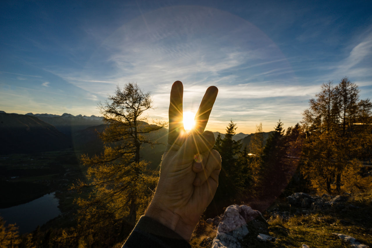 greetings to sunset Altaussee Beauty In Nature EyeEm Best Shots EyeEm Gallery EyeEm Nature Lover Lens Flare Sunest Sunlight V