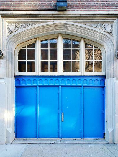 Blue Doors Blue Entrance Morning Light
