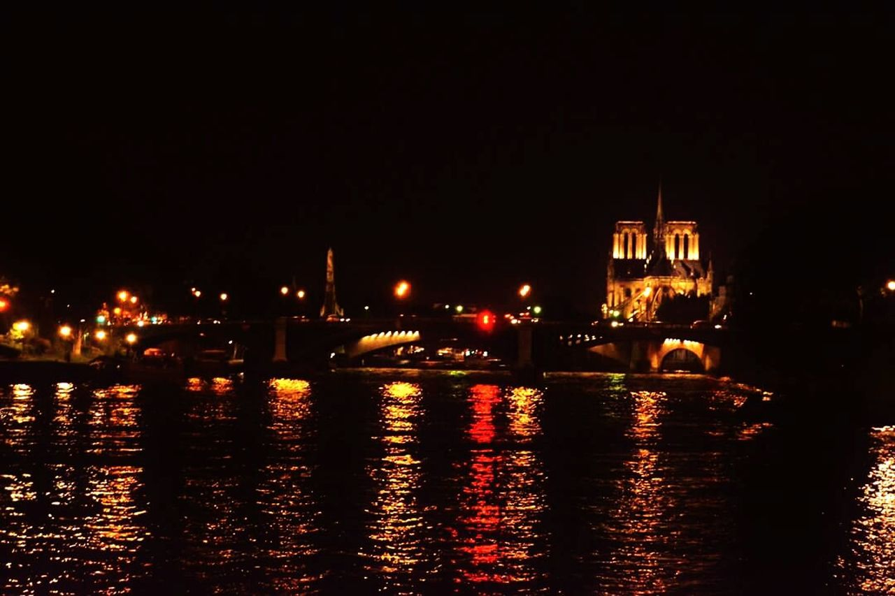 night, illuminated, water, built structure, architecture, waterfront, river, building exterior, spirituality, no people, religion, outdoors, travel destinations, place of worship, sky, nautical vessel, city