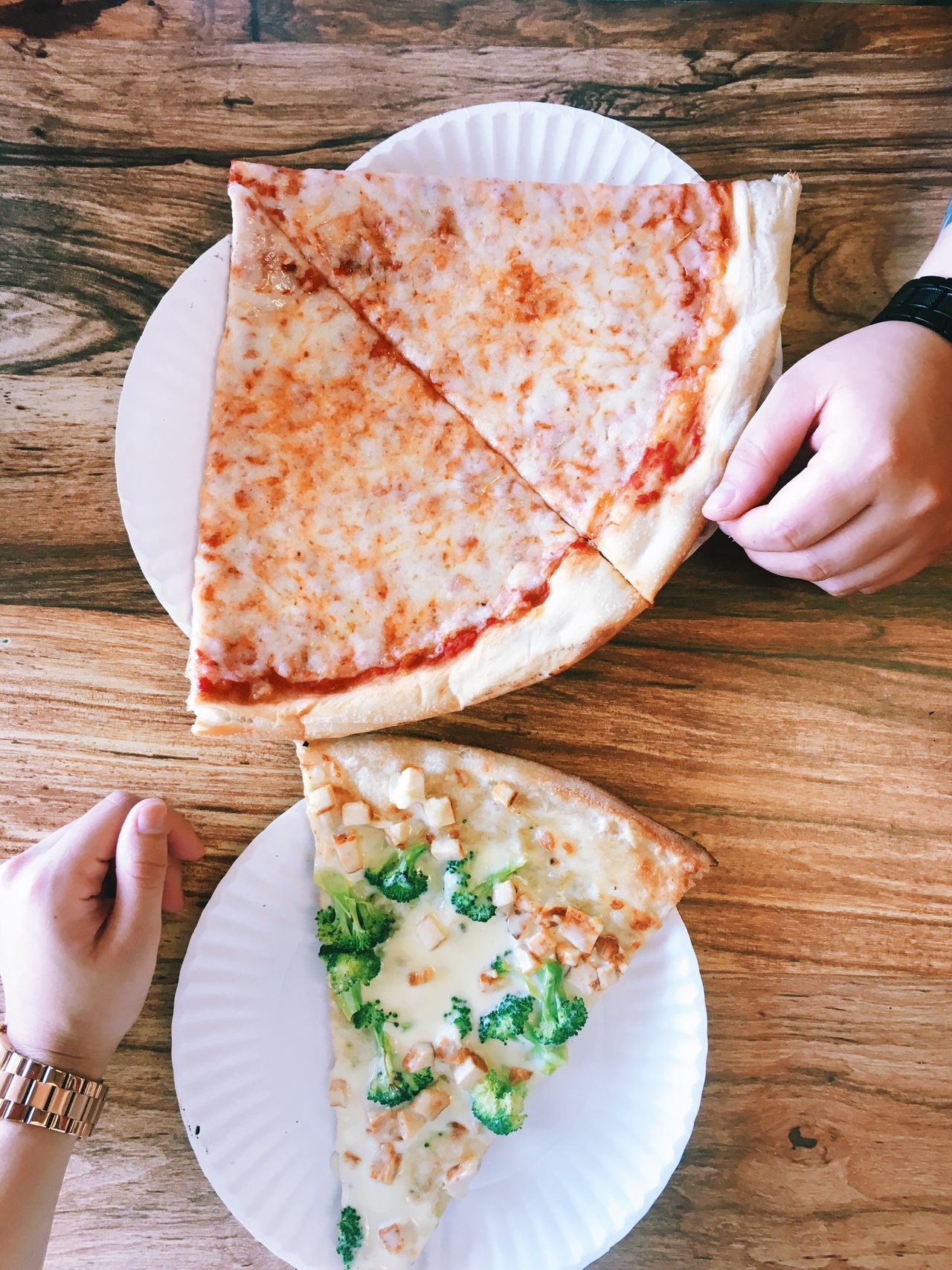 Food Pizza Hands Unrecognizable Person Part Of Food And Drink Food Indoors  Freshness Person Table Holding Plate Close-up Ready-to-eat Person Meal Wooden Serving Size Personal Perspective