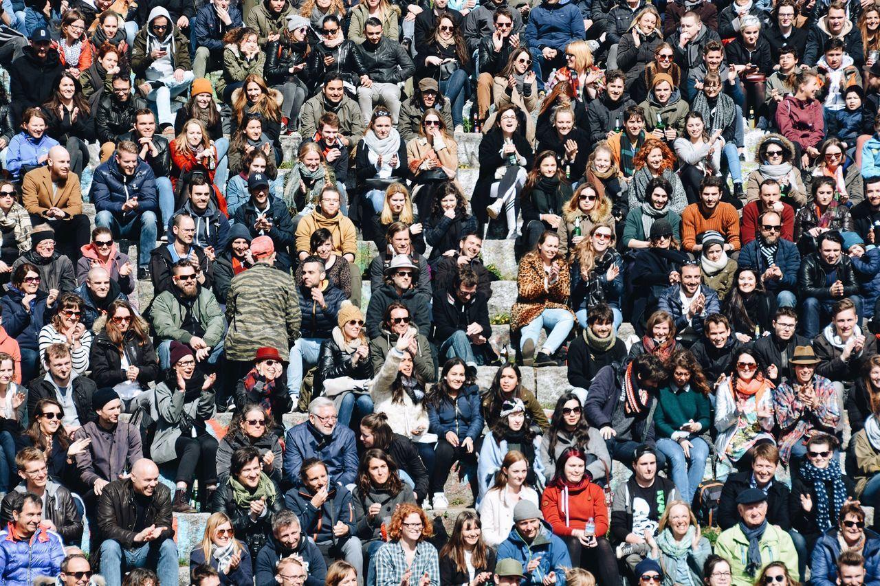 Full Frame Shot Of Crowd At Stadium