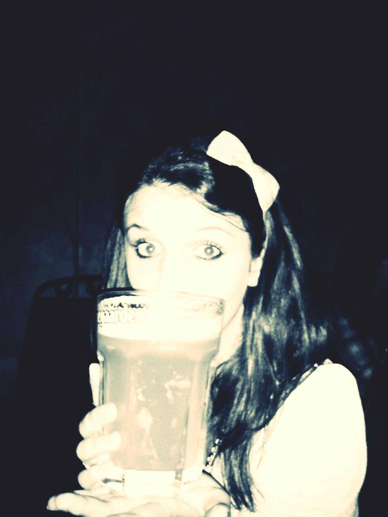 Drinking Beer Hoegaarden Snowwhite Snehulienka