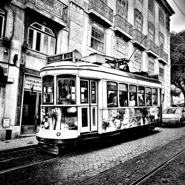 Lisbon Tram Lisboa Portugal Lisbona Portogallo Street First Eyeem Photo