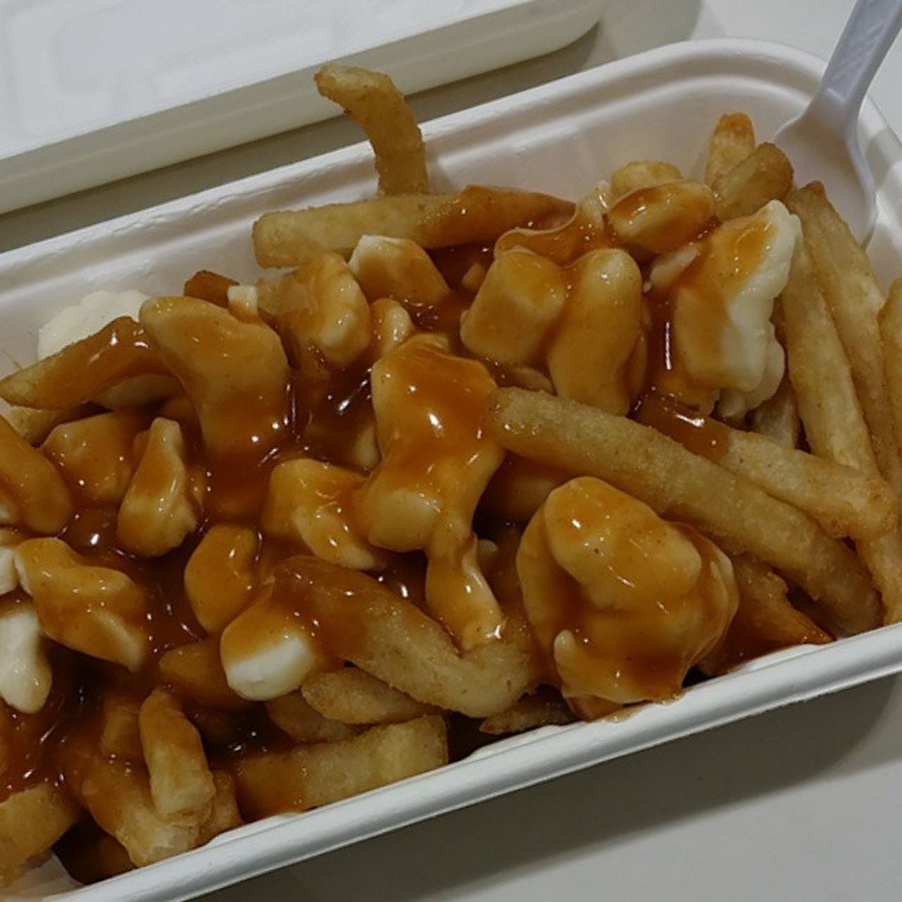 My favourite part about costco :) Poutine