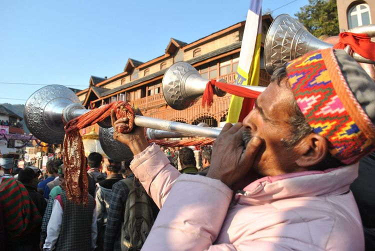 Men in traditional Himachali caps playing folk musical instruments during the Shivratri fair at Mandi, Himachal Pradesh Culture Cultures Festival Folk Music Folk Musicians Hill Culture Himachali Music Himachalitopi Music Musician People Person Tourism Traditional Travel Destinations Traditional Clothing Traditional Music Mandi People And Places The Culture Of The Holidays Celebration Hat Carnival Crowds And Details Millennial Pink EyeEm Diversity Visual Feast Sommergefühle Investing In Quality Of Life Perspectives On People