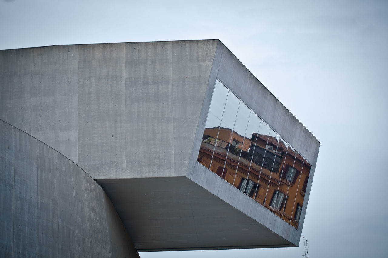 Architecture Art Building Exterior Built Structure Italy Low Angle View MAXXI Roma Modern No People Outdoors Reflections Riflection Rome Sky Winter