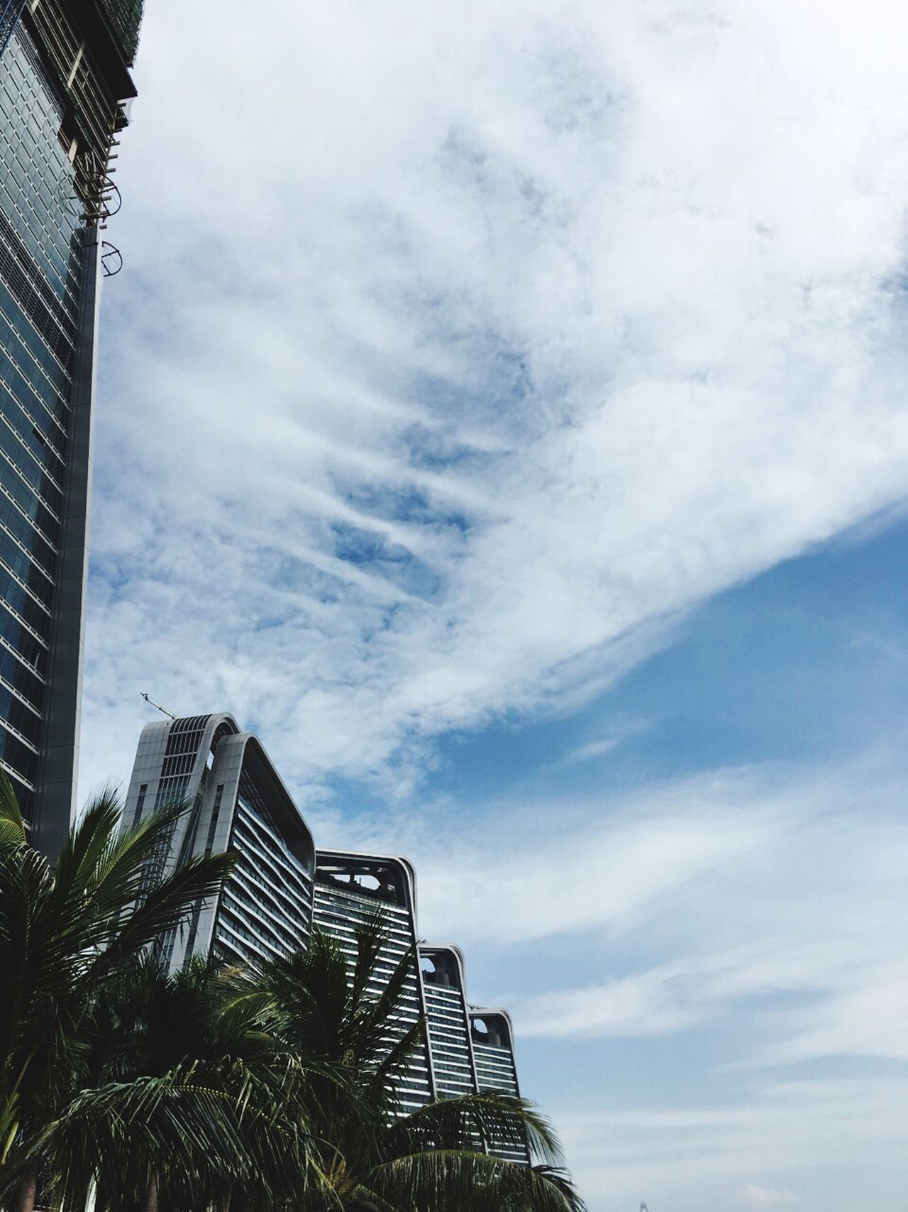Zhuhai China Architecture Low Angle View Built Structure Sky Building Exterior Tall - High Office Building City Tower Modern Building Story Cloud Outdoors Cloud - Sky Day Place Of Work City Life Tall Development