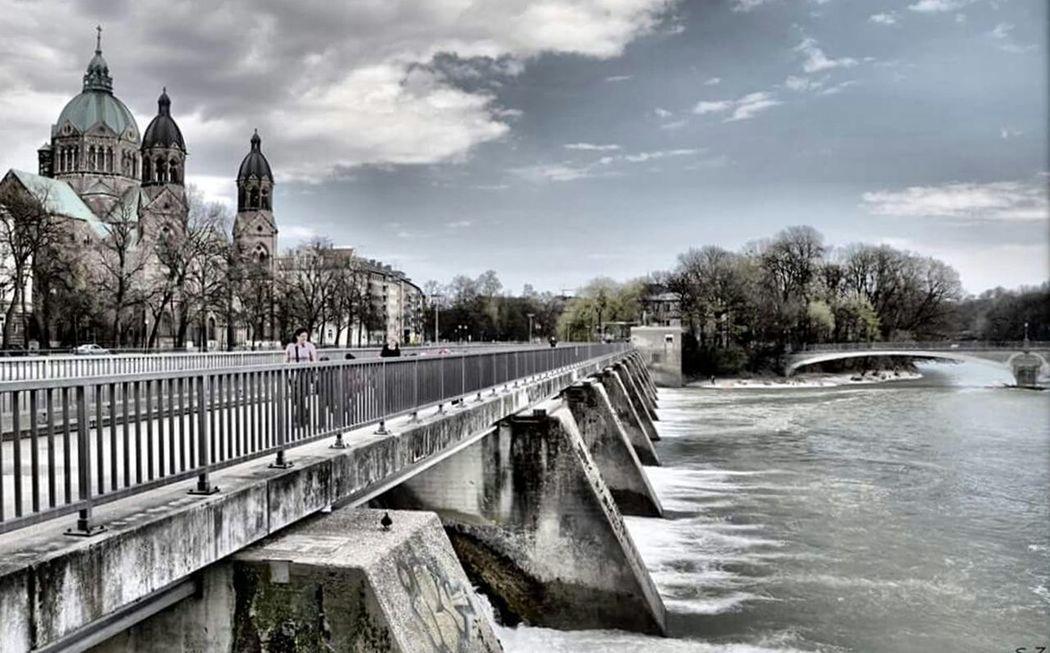 München Isar Fiume Fluss First Eyeem Photo Hdrphotography Ponte