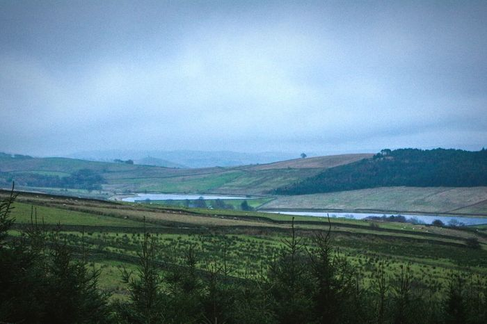 Agriculture Farm Landscape Scenics Rural Scene Nature Growth Outdoors Field Tranquility Water Tranquil Scene No People Beauty In Nature Sky Cloud - Sky Day My Year My View Pendle Hill Foggy Landscapes Lancashire Nature Resevoir Mountain