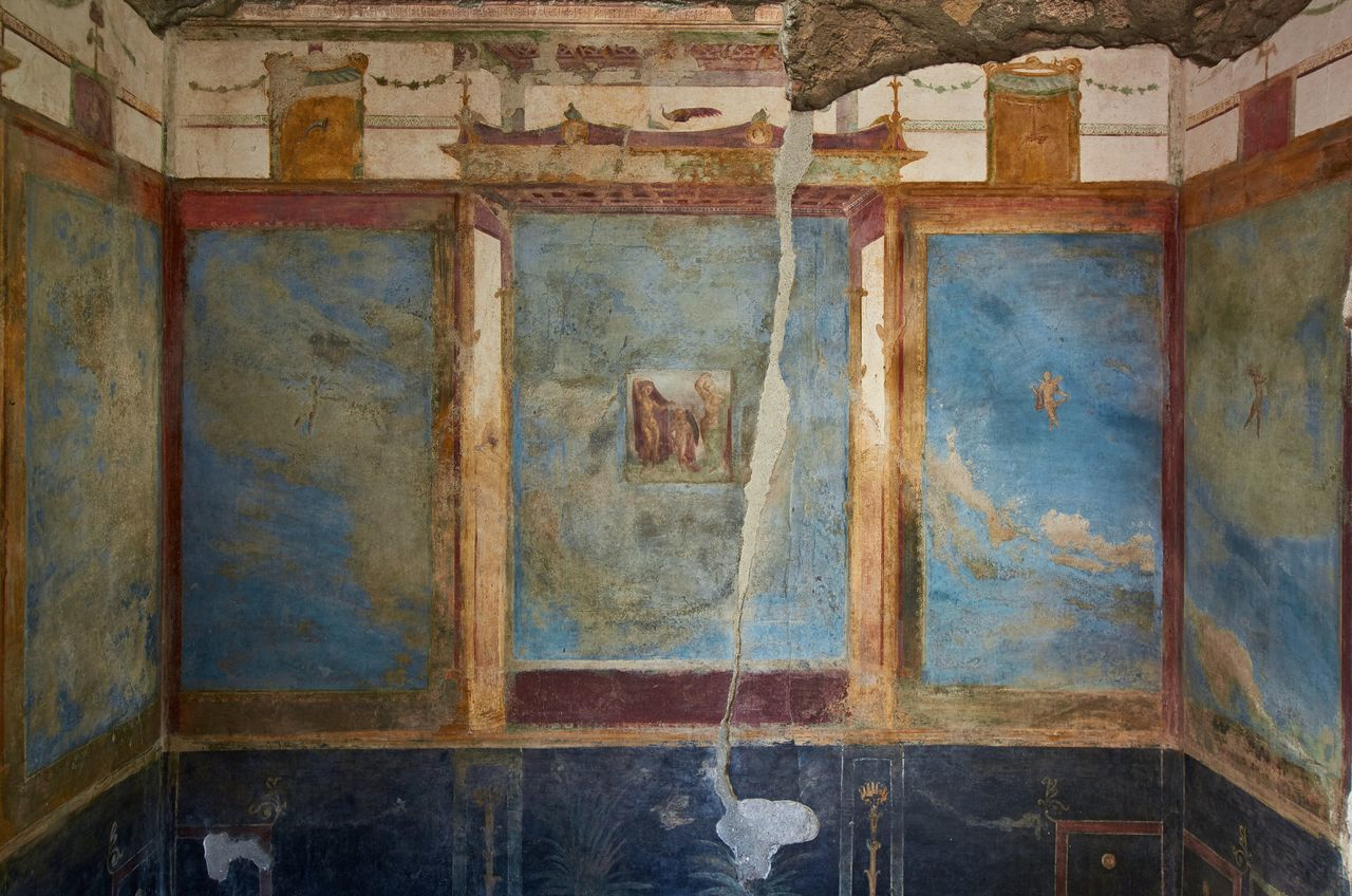 Roman house interior, Pompeii Pompeii  Italy Roman Interior Room Indoors  No People Decor Fresco Decoration Ancient Ancient Civilization Wall Painting Art History Historic Historical Building