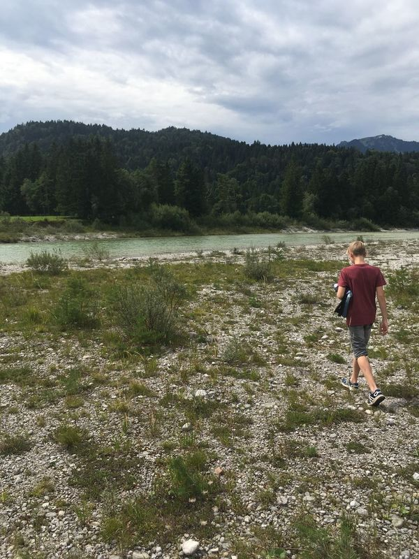 Isarauen Isar Isartal Lenggries River Bavaria Bavarian Landscape Landscape Travel Destinations