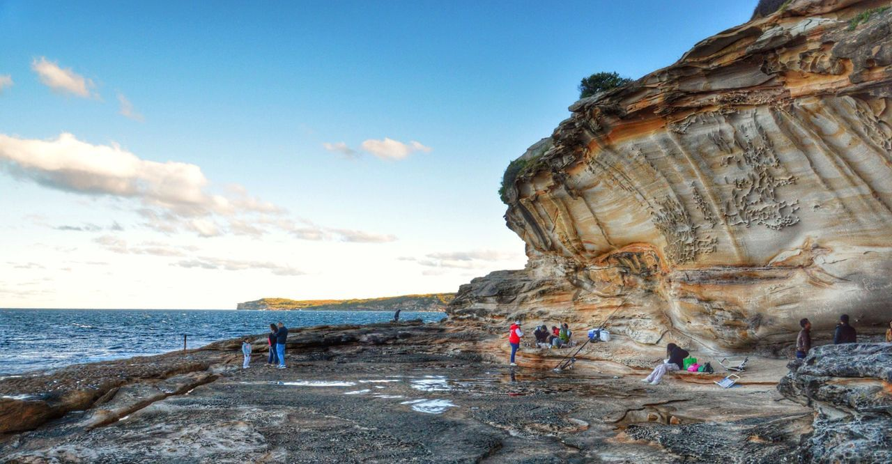 La Perouse, Sydney Australia. Beach Cliff Coastline Exploring Geology Geometry Horizon Over Water Idyllic Landscape Majestic Nature Nature Outdoors Physical Geography Rock Rock - Object Rock Formation Rough Scenics Sea Taking Photos Tranquil Scene Tranquility Voyage