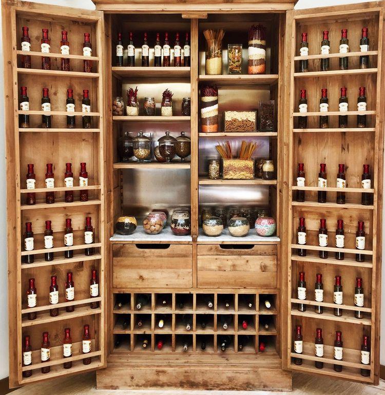 Wine Wines Cabinet Storage Wooden Cupboard Pantry