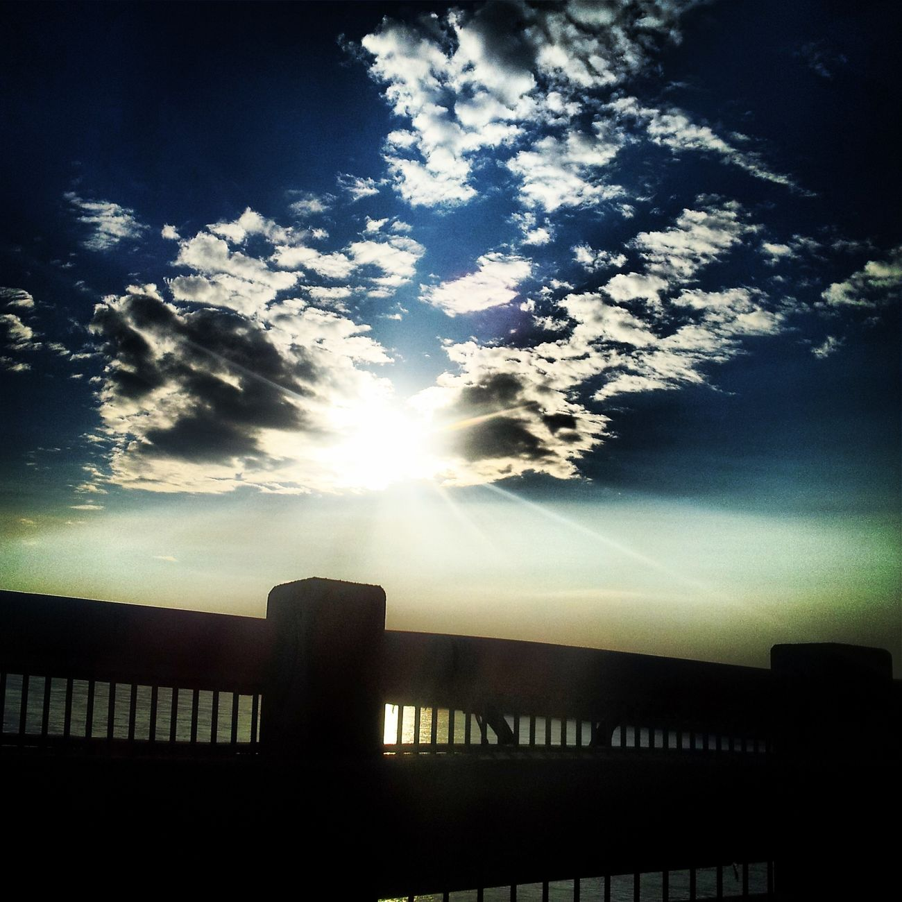 Cloudporn Sunshine Sunset Bridge