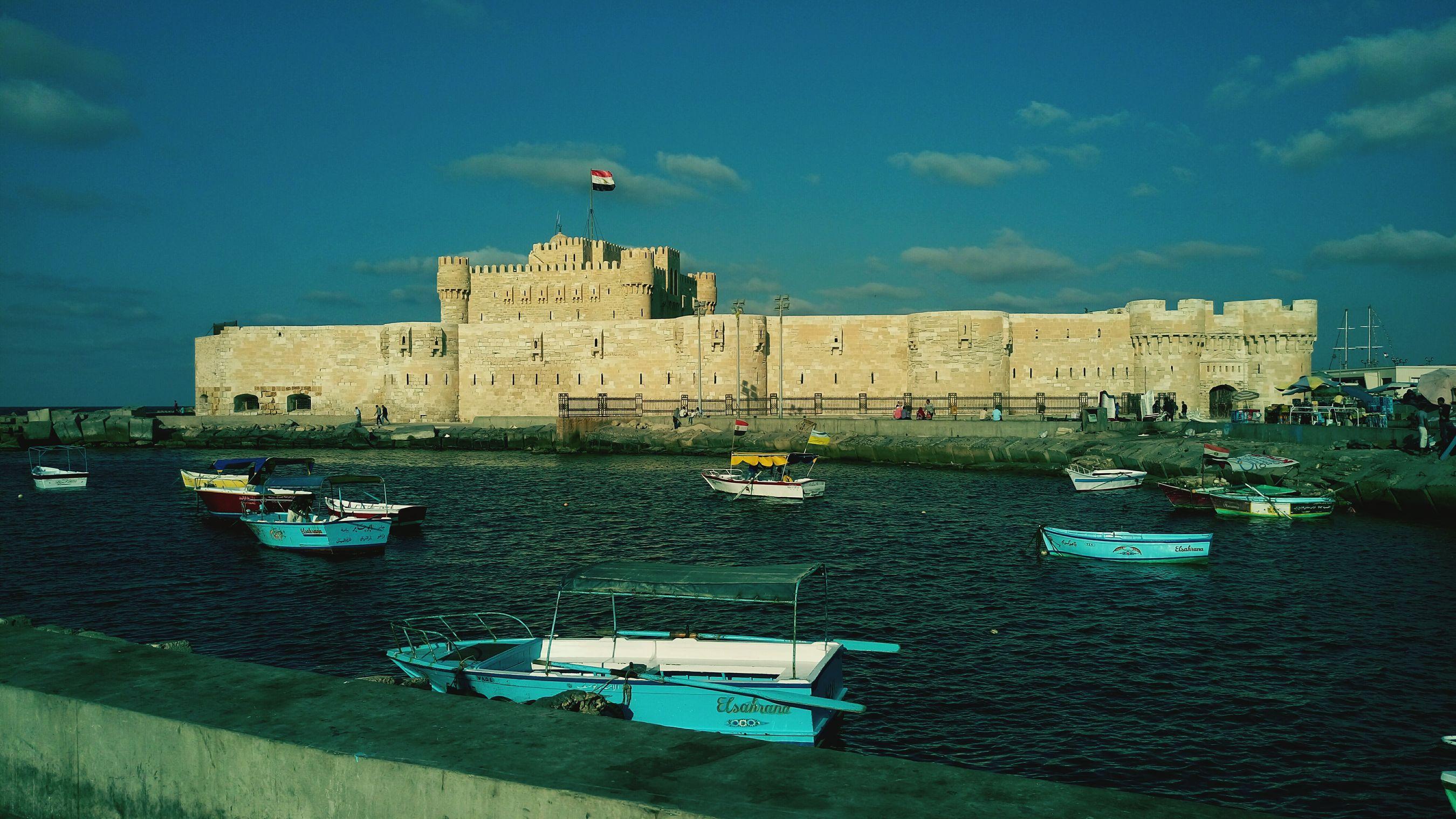 Architecture Alexandria Egypt Citadelofqaitbay Water History First Eyeem Photo Relaxing Mediterranean Sea Queen Of The Sea