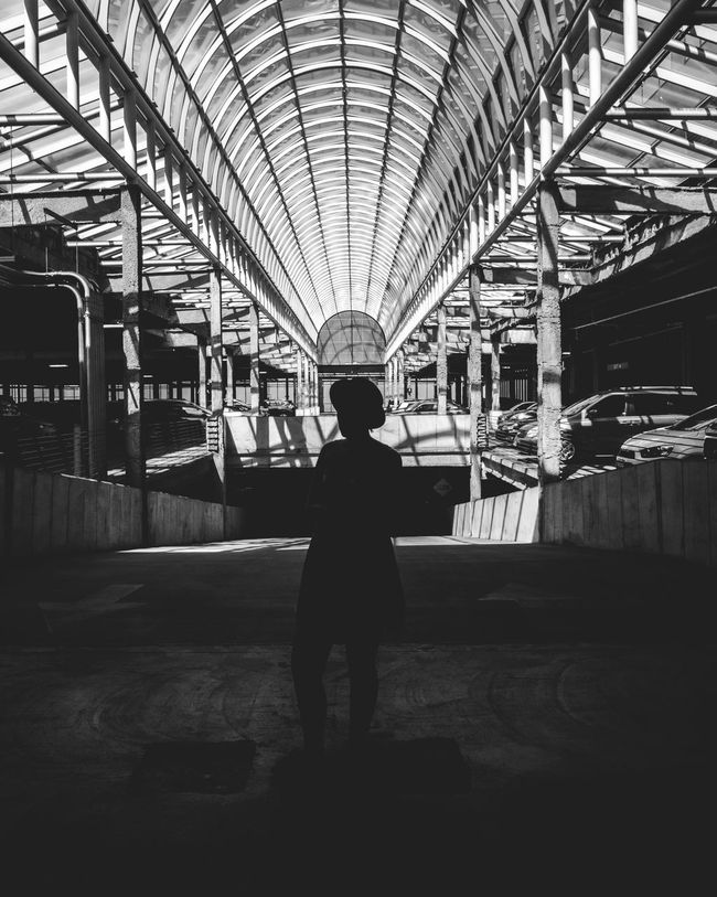 http://dylanmurphy.net Instagram: dylanmurphy Architecture Black And White Blackandwhite Built Structure People Portrait Silhouette Symmetrical Symmetry