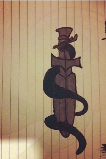 I drew this Gray Sword Snake ArtWork Art Something I Drew Photo Pic I Drew This