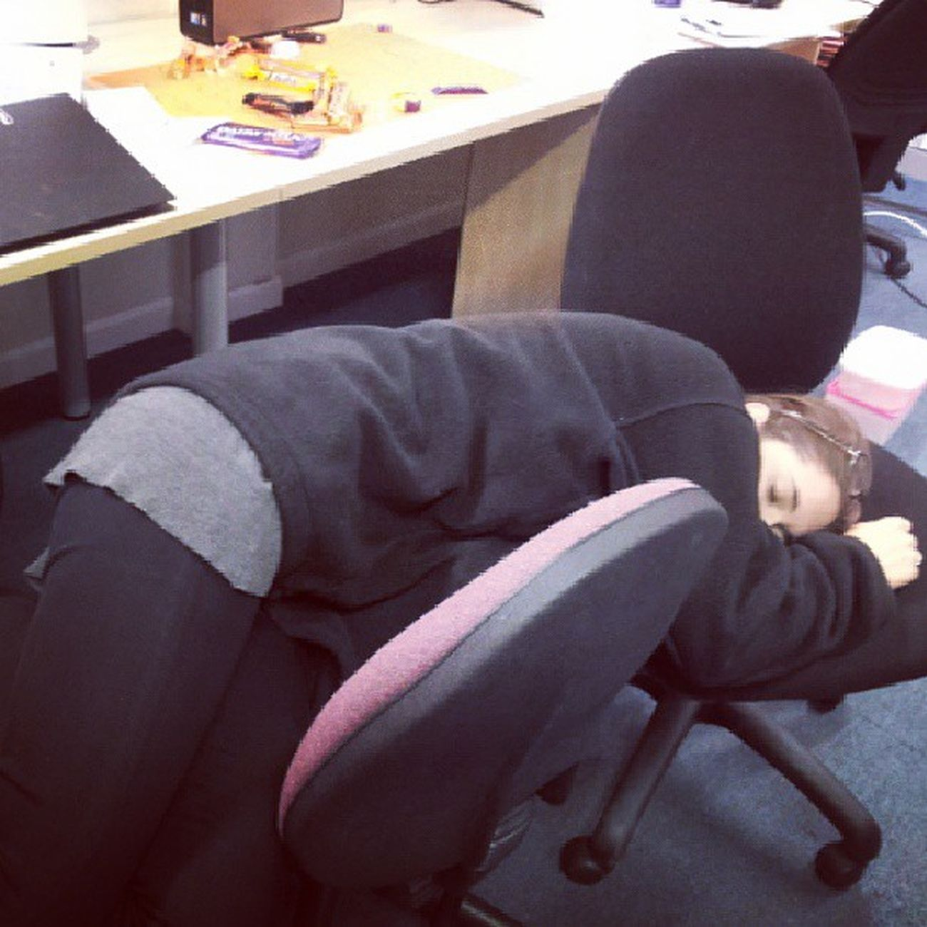 Work is clearly taking its toll...Sleeptime Soulsucking Boohoo