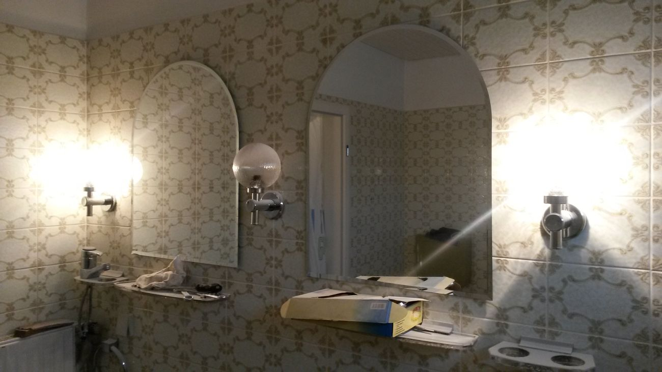 Old-fashioned Old Tiles Renovating Renovation No People Indoors  Building Exterior City Old Buildings Architecture Mirror Picture Mirror Mirrored Mirror Reflection Reflection Reflections Lights Mirrorlight Illuminated Illumination