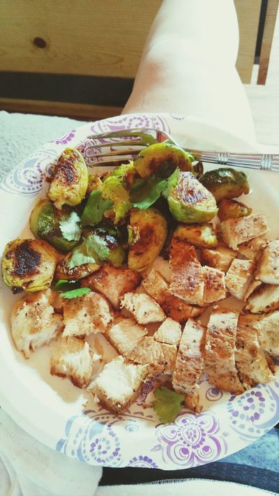 Chicken Brussel Sprouts Veggies Eatgood Workout Insanity