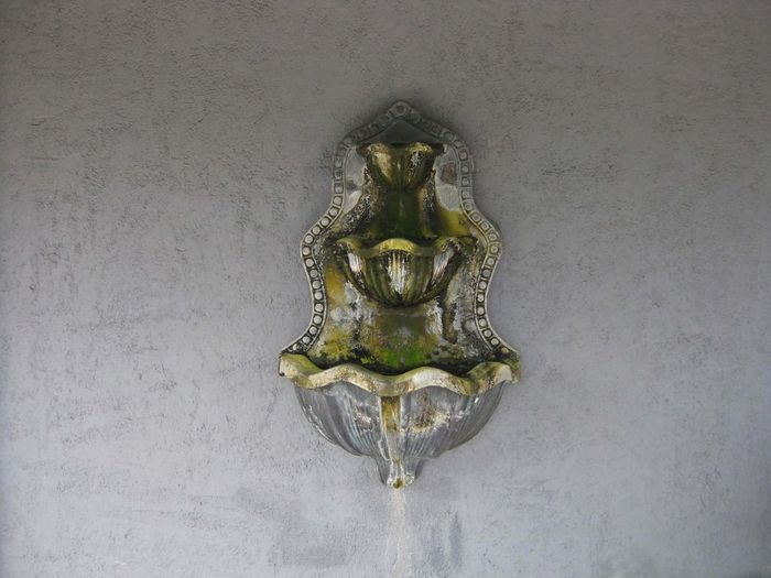 Decoration Design No People Single Object Still Life Wall Fountain Water Fountain