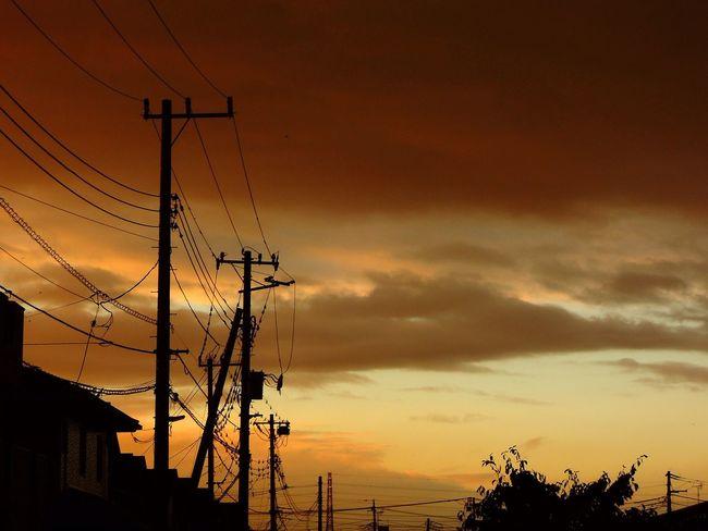 おつかれさまでした。 Sunset Twilight Afterglow 夕暮れ時 NikonP330
