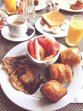 Goodmorning ♥t] Bestoftheday Enjoying Life Bestholiday Palma De Mallorca❤ Pancakes Beautiful Good Morning Croissant