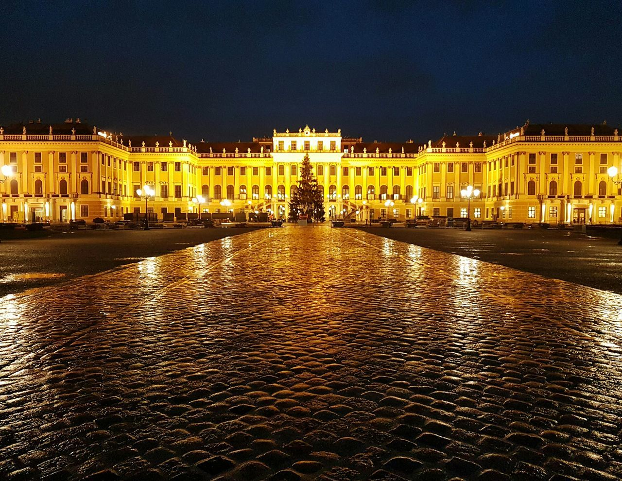 Vienna Shönbrunn No Filters Or Effects City Architecture Night Built Structure Water Building Exterior Outdoors No People First Eyeem Photo