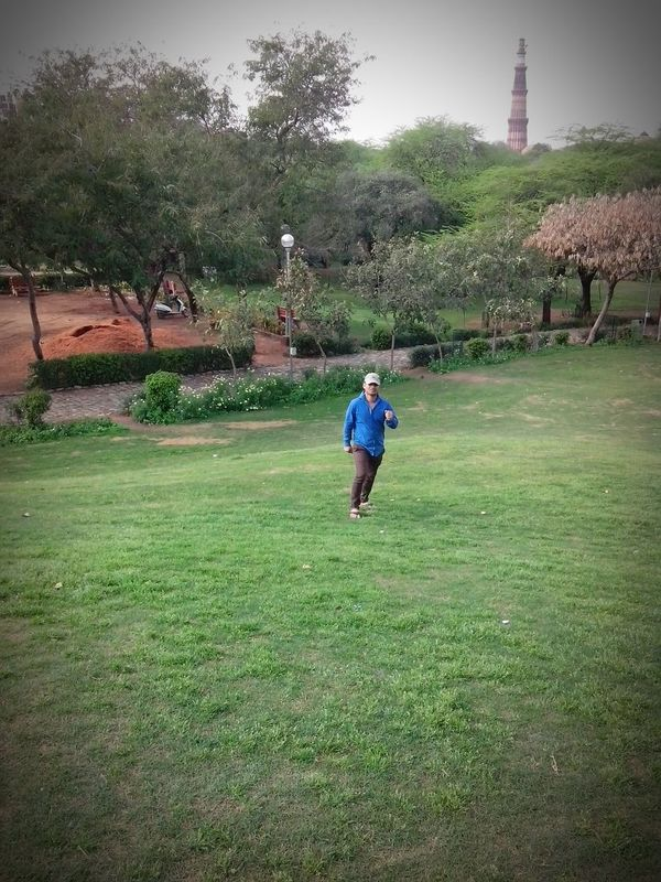 Grass Full Length Tree Childhood Green Color Boys Rear View Playing Leisure Activity Walking Lifestyles Child Casual Clothing Park - Man Made Space Lawn Fun Day Growth Nature Outdoors Qutab Minar Jamalikamali Beauty Summer Night