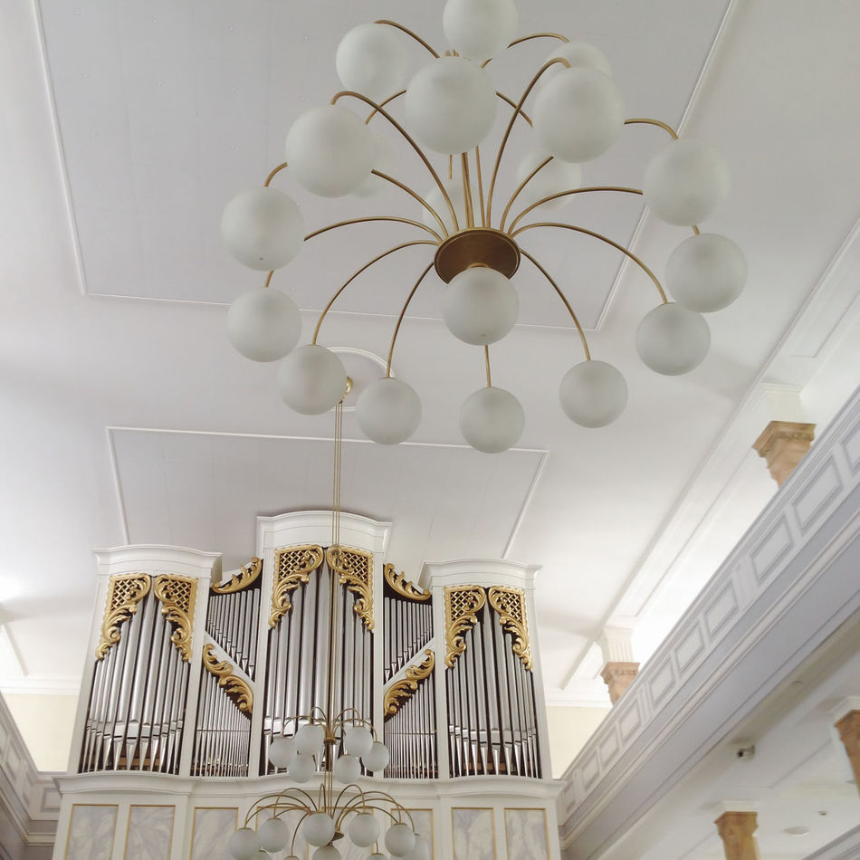Organ in church Architecture Baptism Bright Cathedral Church Confession Gospel Home Interior Horn Indoors  Mass Mess Music No People Organ Organum Pipe White Wind Instruments