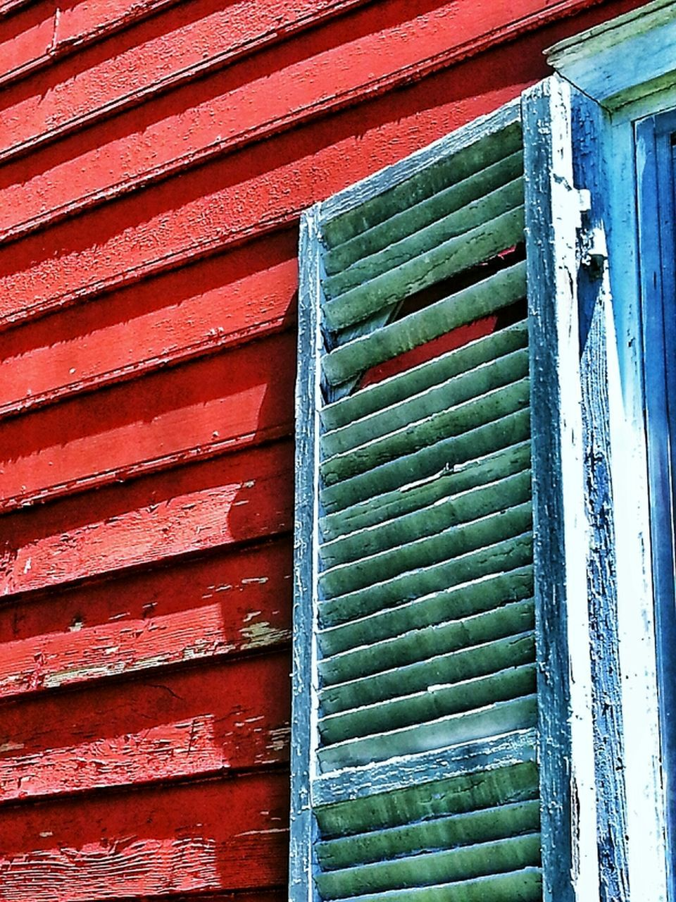 door, architecture, no people, day, built structure, building exterior, outdoors, multi colored, backgrounds, red, close-up, corrugated iron