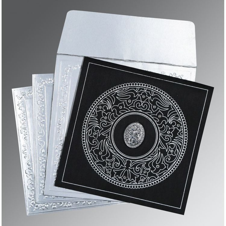 Black Wooly Screen Printed Muslim Wedding Invitation : I-8214N Muslim Invitations Muslim Cards Muslim Wedding Cards Muslim Wedding Invitations Islamic Car
