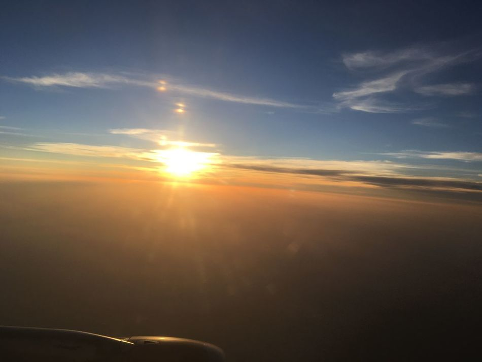 Airplane Airplane Wing Beauty In Nature Cloud - Sky Day Journey Nature No People Outdoors Scenics Sky Sun Sunlight Sunset Tranquil Scene Tranquility Transportation Long Goodbye
