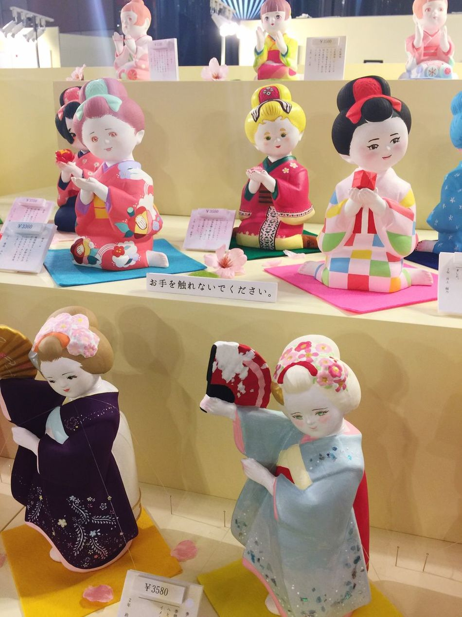 Toy Childhood Human Representation Doll Indoors  Female Likeness Art Arts Culture And Entertainment Craft Local Culture Multi Colored No People Consumerism Close-up Day Hakata Doll 博多人形 Old To New Reinterpretation 温故知新 新解釈 Reimagined Reimagination