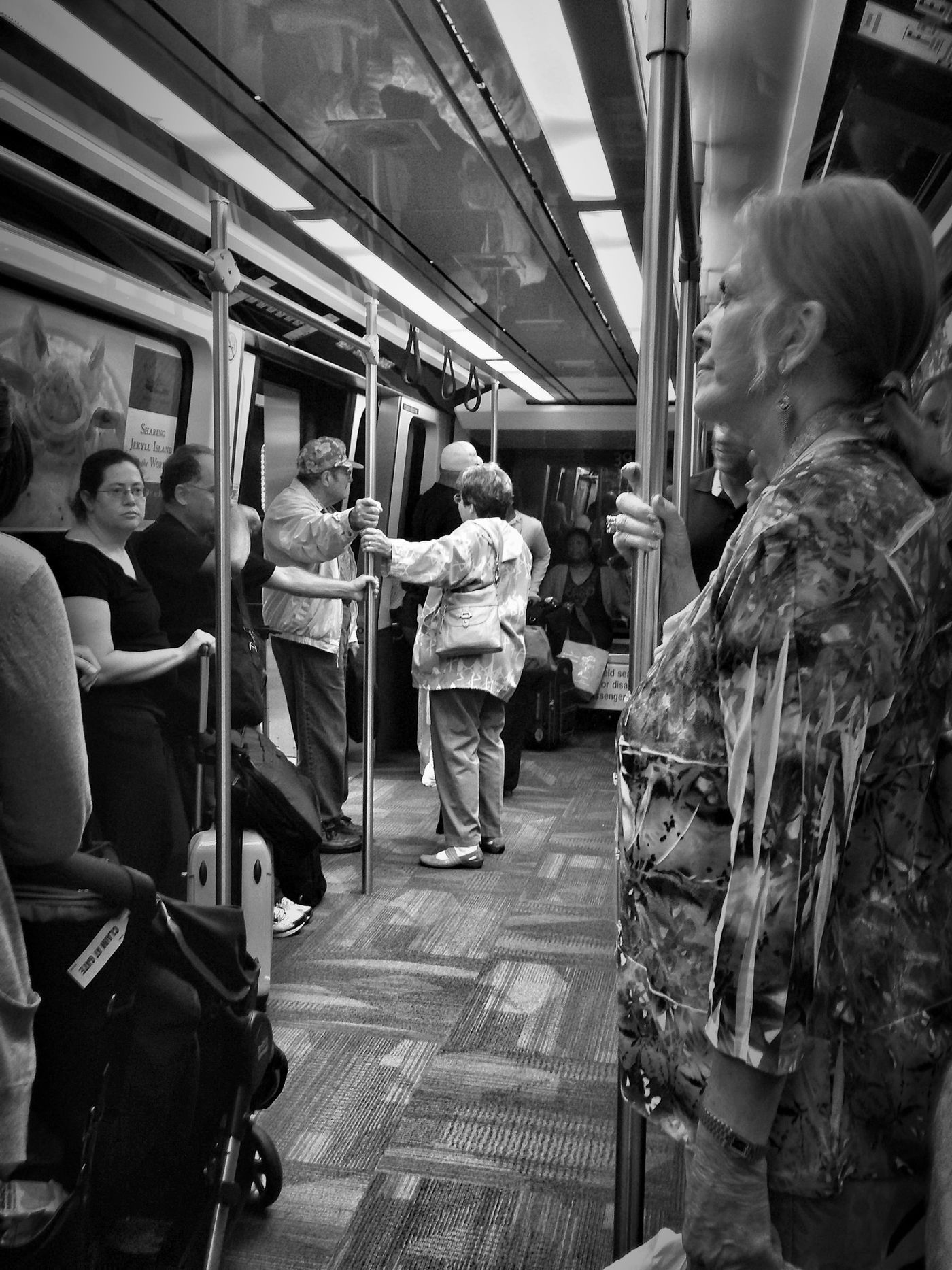 Hdr_Collection Blackandwhite Bw_collection On The Tram