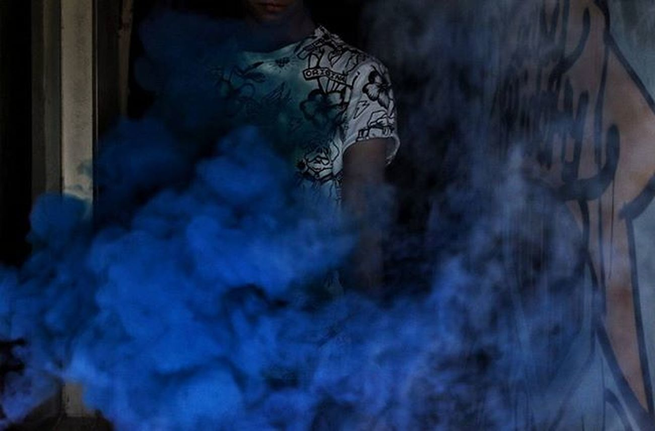 smoke and art, part 2. I put all my smoke pictures under 1 hashtag Smokexcolor . . . . . . . . . Smoke Blue Color Colors Smokehead Delhi India Portrait Portraits Sodelhi Delhishutterbugs Dfordelhi Delhi_igers DelhiGram Indiaclicks Indianphotography Photographersofdelhi Photographers_of_india Graffiti Hkv Hauzkhasvillage