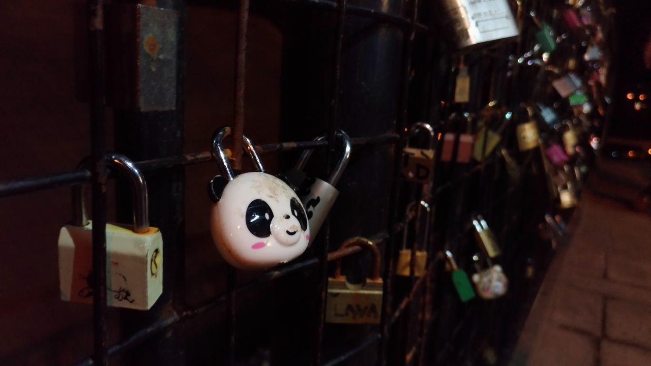 Eyeem Philippines Fence Davao City, Philippines Art Is Everywhere Love Locks Love Locks Bridge Panda Focused Photo Close Up Close Up Photography Street Photography Unfiltered Art Is Everywhere The Street Photographer - 2017 EyeEm Awards