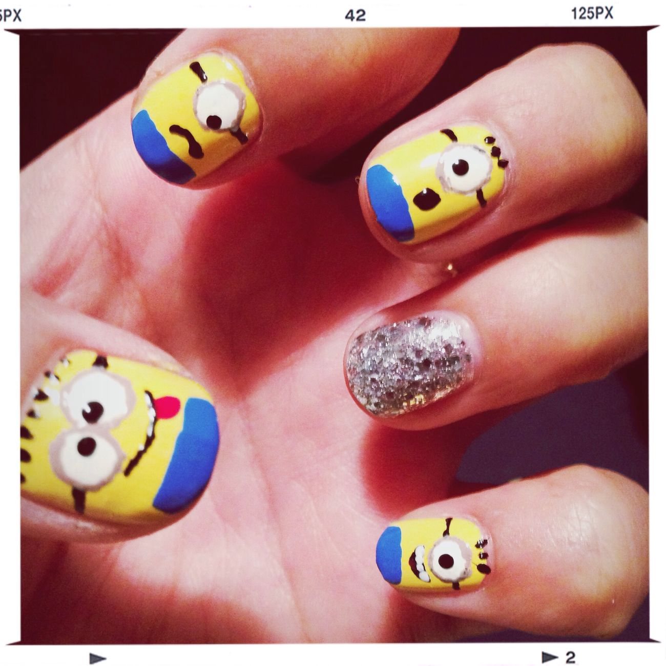 ❤︎ Nailart Love My Nails :* My Nails 私もミニオンやってみた‼︎