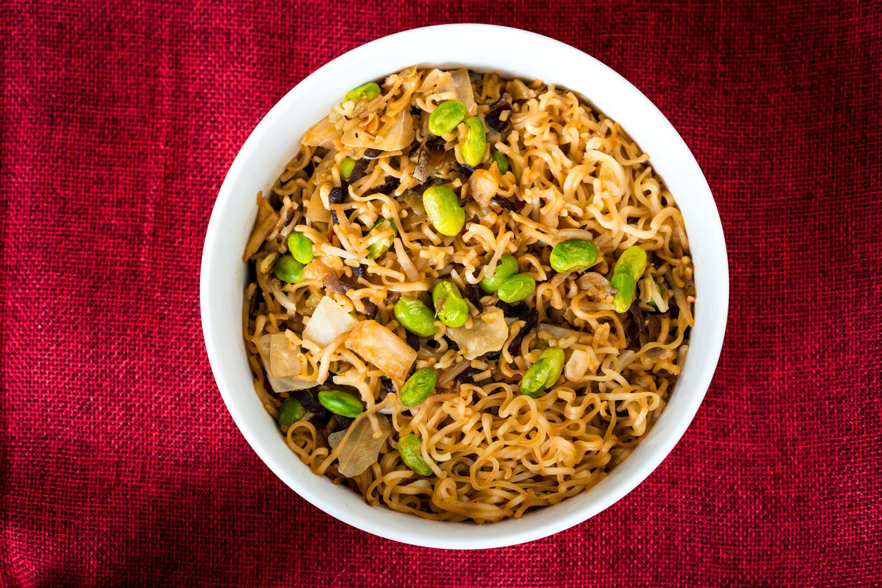 Asian Food Bowl Chinese Food Delicious Dinner Dish Fast Food Food Food And Drink Freshness Fried Noodle Garnish Healthy Eating Indulgence Lunch Meal Mushroom No People Noodle Ready To Eat Ready-to-eat Red Serving Size Wok
