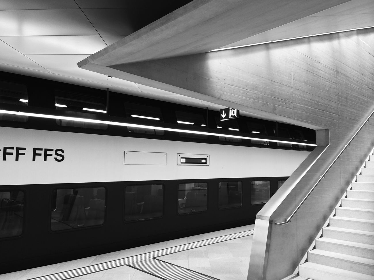 Different lines Architecture Black And White Trainstation EyeEmSwiss