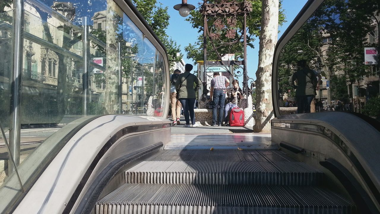 Escalator Subway Metro Commute Travel Undergroundstation La Rambla Barcelona On The Way Embrace Urban Life Urban Life Transportation Incidental People