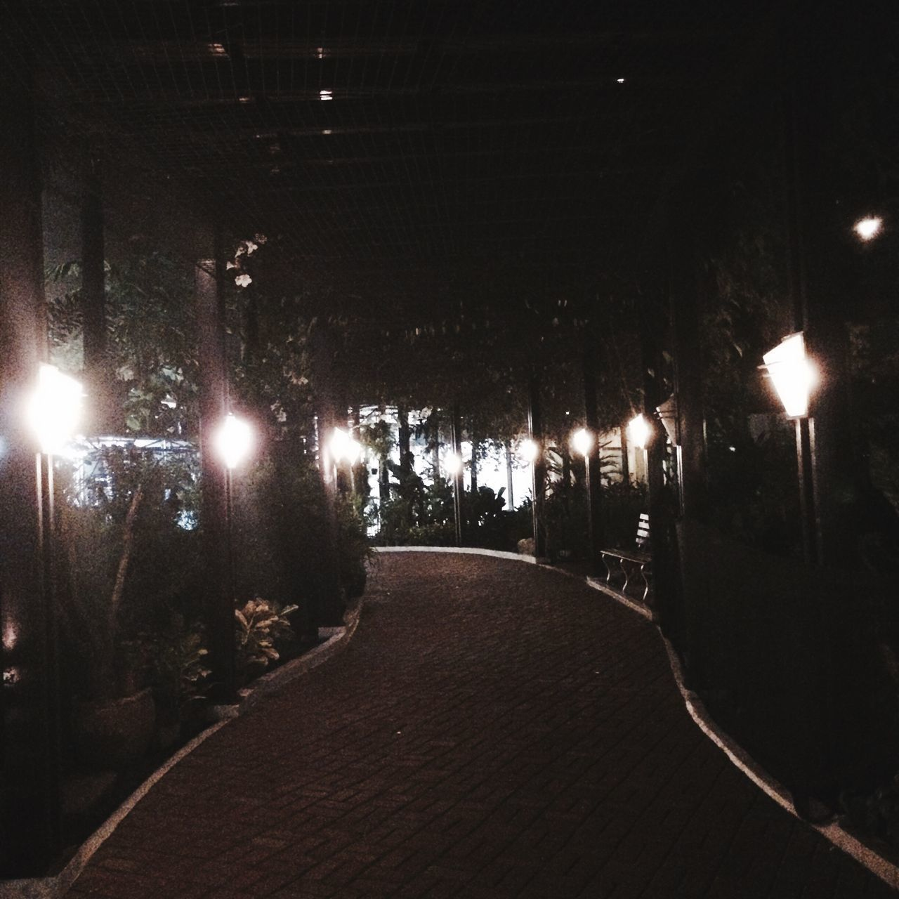 Illuminated Lighting Equipment Night Road No People Indoors