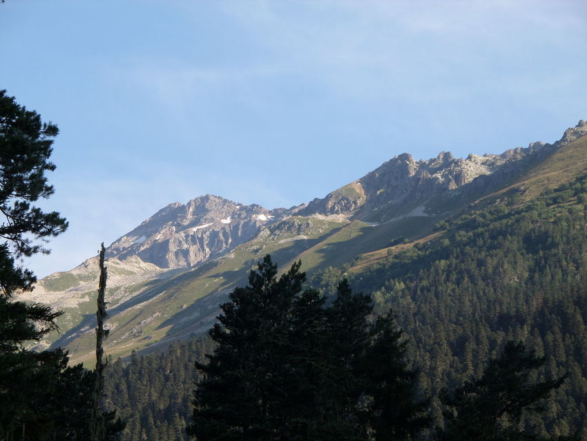 Mountain Mountain Range Non-urban Scene Snow Tranquil Scene Caucasian Mountains КавказскийХребет Rocky Mountains домбай Dombai