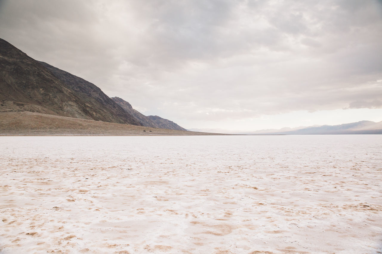 Arid Climate Arid Landscape Badwater Basin Beauty In Nature Cloud - Sky Day Death Valley Death Valley National Park Death Valley, California Desert Desert Landscape Landscape Mountain Nature Nature No People Outdoors Salt Sand Scenics Sky Tranquil Scene Tranquility Water