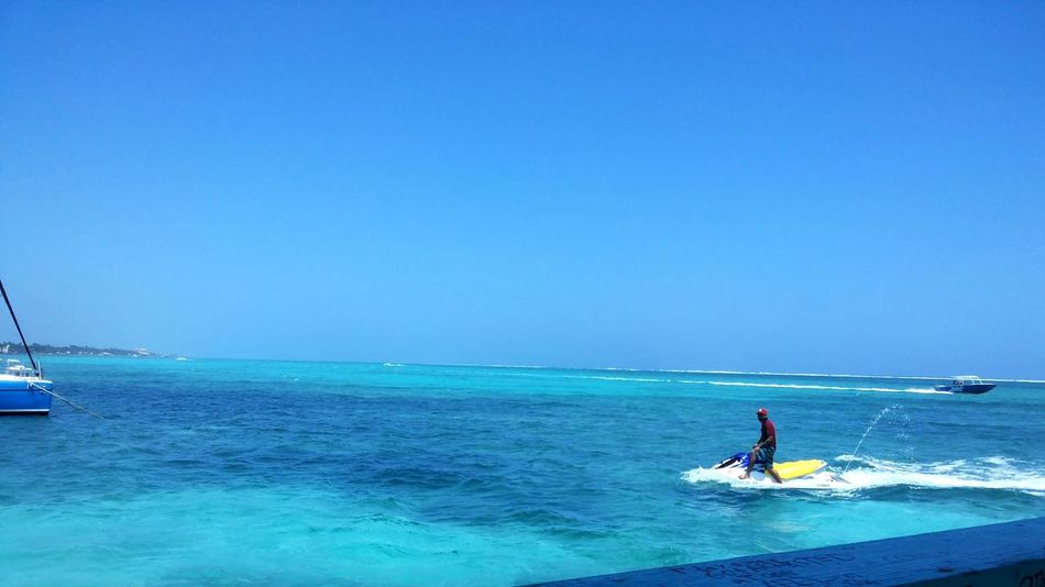 The water was this blue Perfect Day Caribbean Sea Caribbean Blue Island Life Easter Weekend  No Filter
