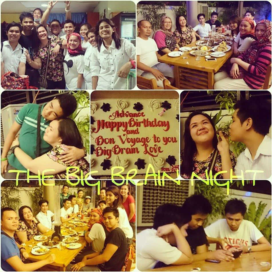 THE BIG BRAIN NIGHT. ADVANCE TO NEXT LEVEL Despedida Chill PlainHappiness Peskies Surprise HadFun CoC Wishes Goodluck Laughter