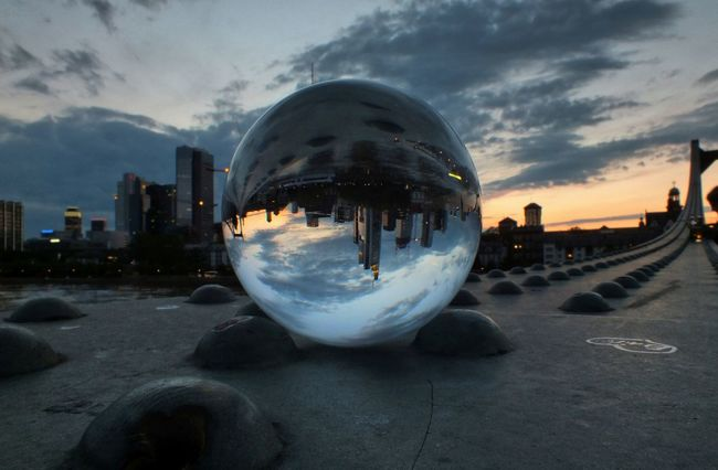 Bridge Cityscape Detail Famous Place Glasball Glass - Material Transparent Voyage
