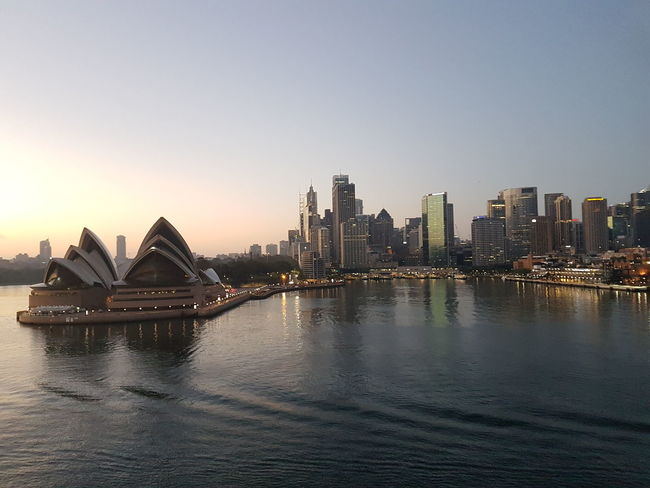 Architecture Travel Travel Destinations City Arts Culture And Entertainment Tourism Opéra Sunset Urban Skyline Cityscape Building Exterior Water Skyscraper Sea Harbor Outdoors Modern Scenics No People Night Sydney Opera House Sydney Harbour sunrise early morning morning Harbour water