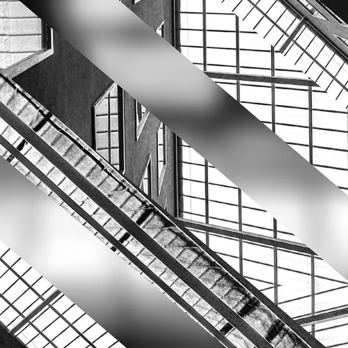 Abstract Architecture Black And White Lines